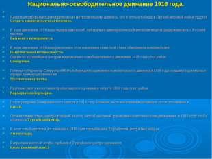 Национально-освободительное движение 1916 года. Казахская либерально-демократ