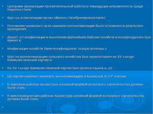 Центрами организации просветительской работы и ликвидации неграмотности сред