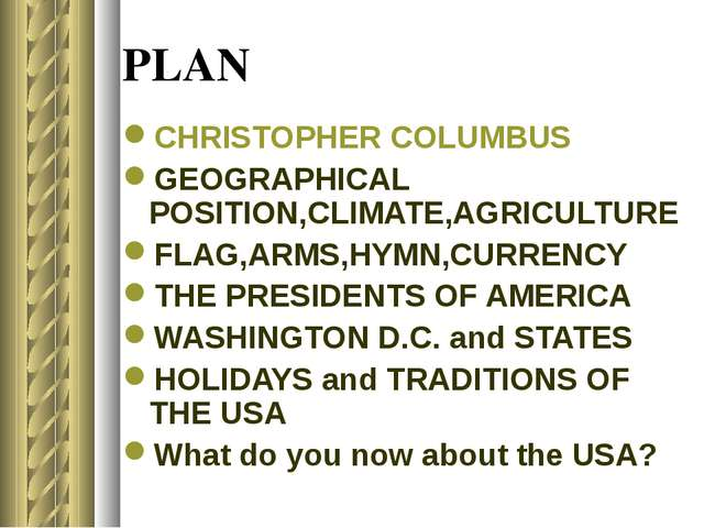 PLAN CHRISTOPHER COLUMBUS GEOGRAPHICAL POSITION,CLIMATE,AGRICULTURE FLAG,ARMS...