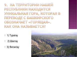 1) Туратау 2) Шахтау