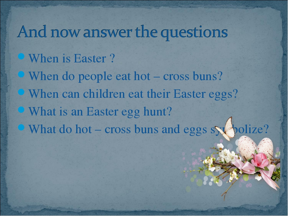 When is Easter ?