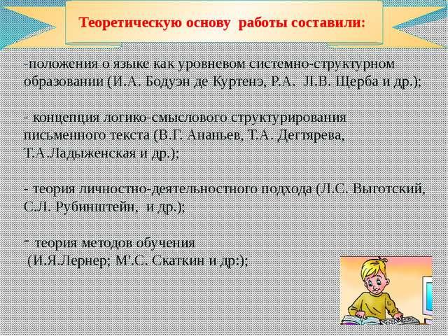 -положения о языке какуровневомсистемно-структурном образовании (И.А. Боду...