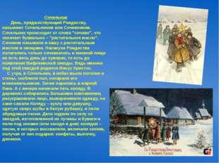 Сочельник День, предшествующий Рождеству, называют Сочельником или Сочевнико