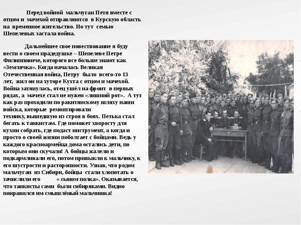 Перед войной мальчуган Петя вместе с отцом и мачехой отправляются в Курскую...