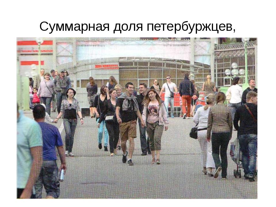 Суммарная доля петербуржцев, считающих, что «жизнь в городе становится лучше»...