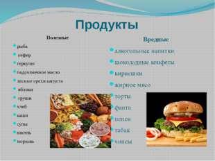 Продукты Полезные рыба кефир геркулес подсолнечное масло лесные орехи капуста
