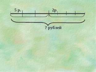 5 р. 2р. ? рублей