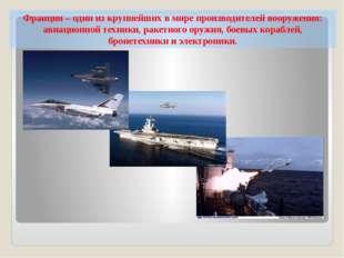 Франция – один из крупнейших в мире производителей вооружения: авиационной те
