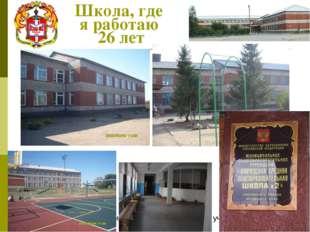 Школа, где я работаю 26 лет Филаткина Раиса Петровна, учитель истории и общес