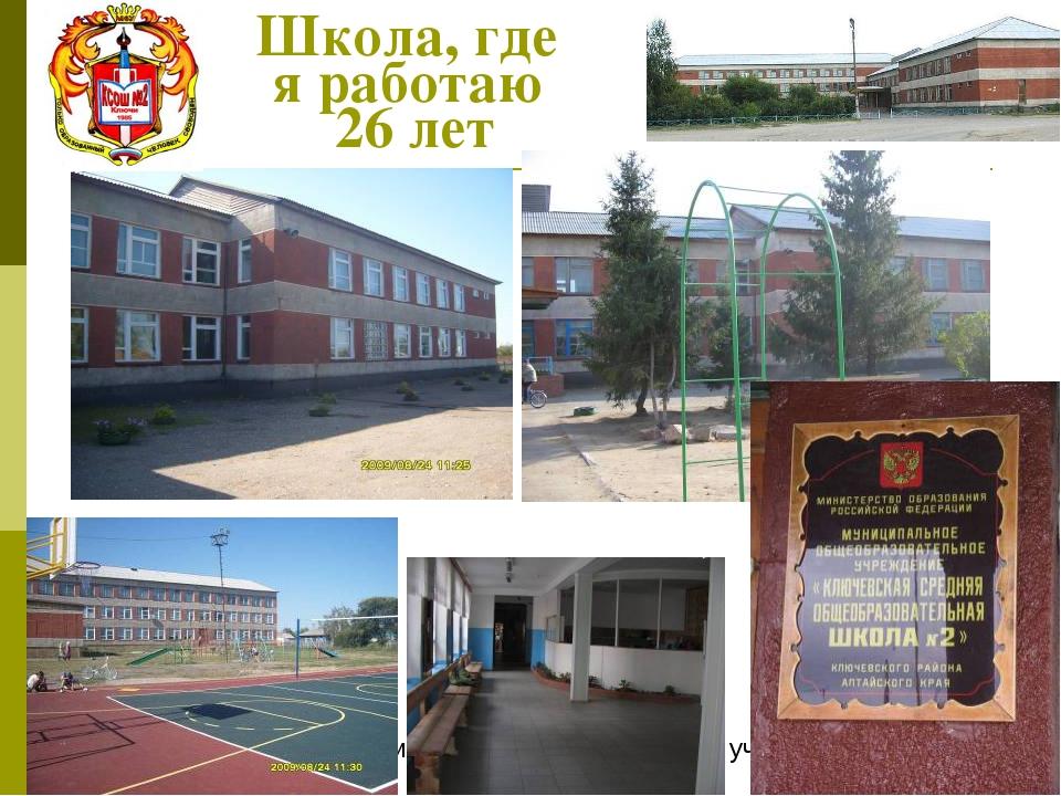 Школа, где я работаю 26 лет Филаткина Раиса Петровна, учитель истории и общес...