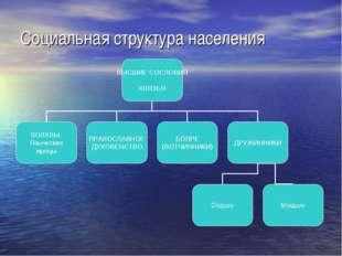 Социальная структура населения