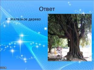 Ответ Железное дерево
