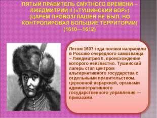 Летом 1607 года поляки направили в Россию очередного самозванца – Лжедмитрия