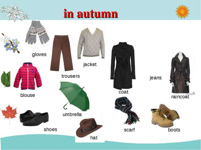 in autumn trousers jacket jeans blouse umbrella coat raincoat shoes hat boots...