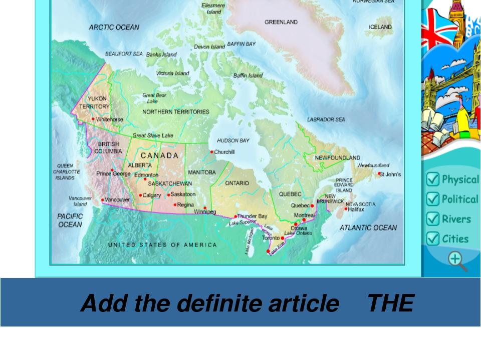 Add the definite article THE