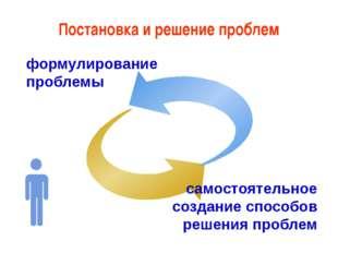 формулирование проблемы самостоятельное создание способов решения проблем По