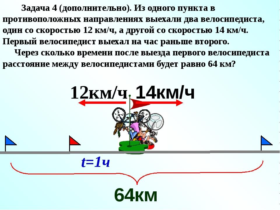 Решение: 64 - 12 = 52 (км) – путь, пройденный двумя велосипедистами вместе пр...