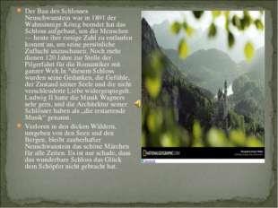 Der Bau des Schlosses Neuschwanstein war in 1891 der Wahnsinnige König beende