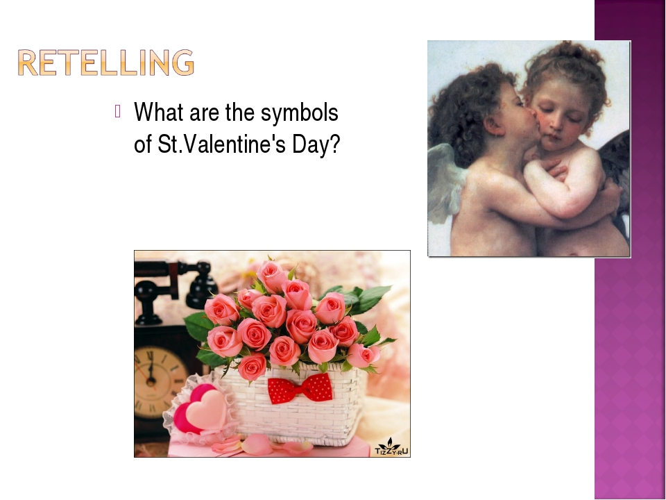What are the symbols of St.Valentine's Day?