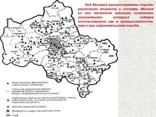11.3.12 Под Москвой распространены породы различного возраста и состава. Мног