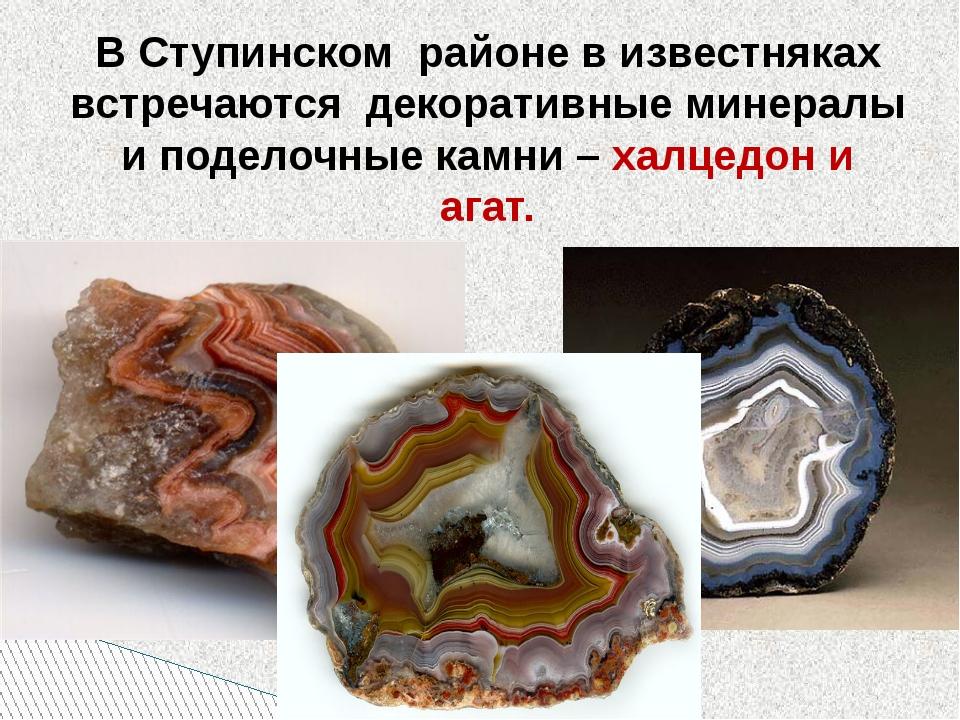 В Ступинском районе в известняках встречаются декоративные минералы и поделоч...