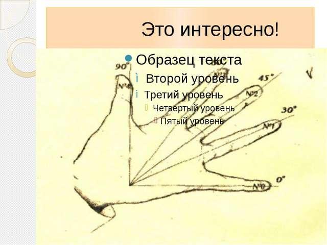 Это интересно! Оказывается, значения синусов и косинусов углов «находятся» н...