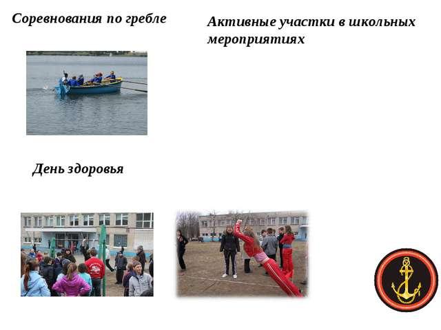 Соревнования по гребле День здоровья Активные участки в школьных мероприятиях