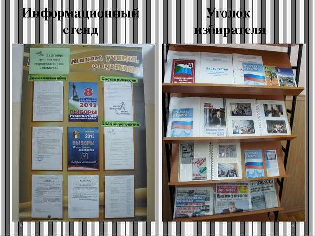 Информационный стенд Уголок избирателя