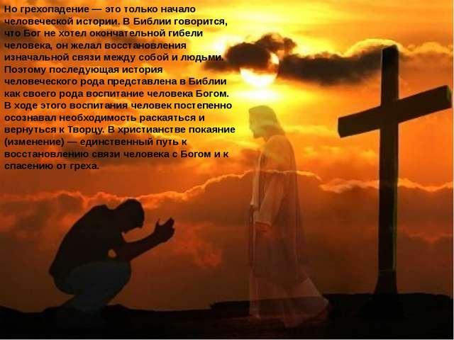 Но грехопадение — это только начало человеческой истории. В Библии говорится,...