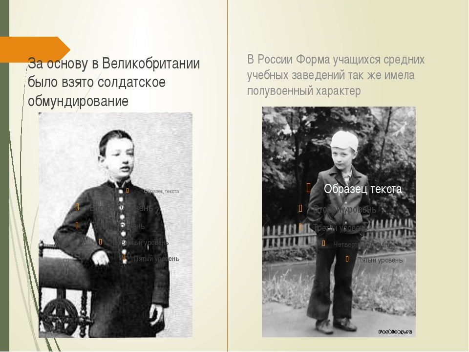 За основу в Великобритании было взято солдатское обмундирование В России Форм...