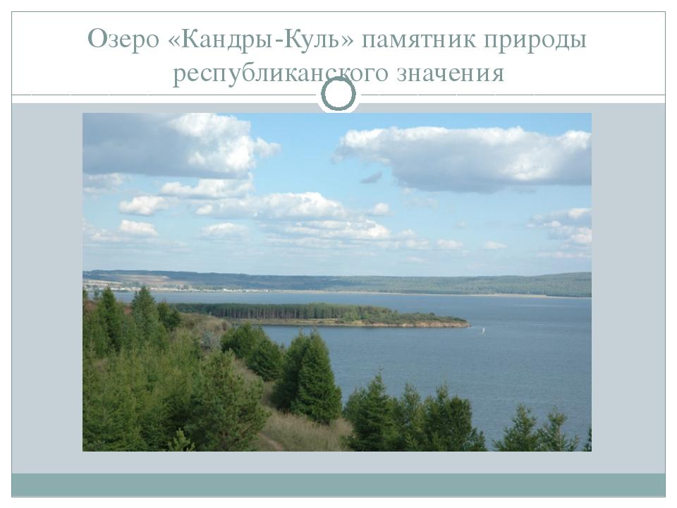 Озеро «Кандры-Куль» памятник природы республиканского значения