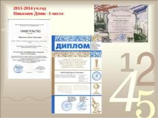 2013-2014 уч.год Николаев Денис -1 место