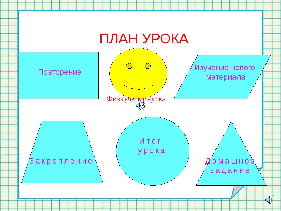 Повторение Изучение нового материала Закрепление Итог урока Домашнее задание...