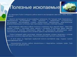 Полезные ископаемые На территории Рыбно-Слободского района имеются месторожде
