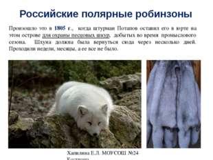 Российские полярные робинзоны Порыбачив, они ночью пустились в обратный путь.