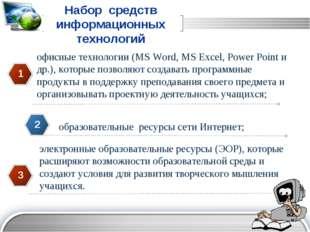 1 2 3 5 6 7 Набор средств информационных технологий офисные технологии (MS W