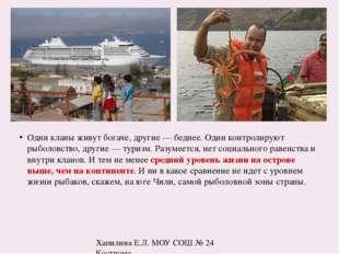 Остров ЛАНГУСТОВ Относительно высокий уровень жизни объясняется малонаселенно