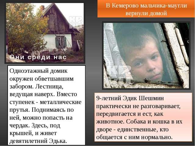 Хабаровская милиция забрала из семьи шестилетнюю девочку-«маугли». Ее брата з...