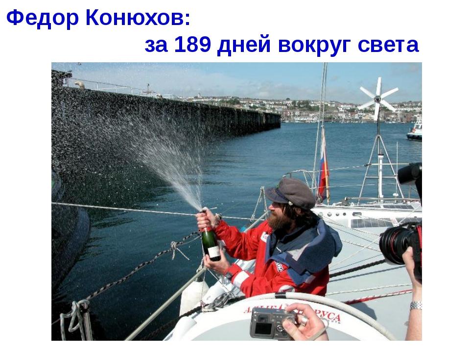 Федор Конюхов: за 189 дней вокруг света Хапилина Е.Л. МОУ СОШ № 24 Кострома