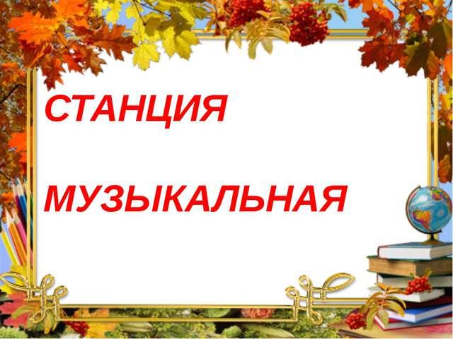 СТАНЦИЯ МУЗЫКАЛЬНАЯ