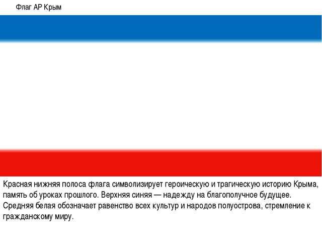Красная нижняя полоса флага символизирует героическую и трагическую историю К...