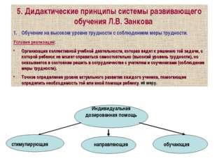 5. Дидактические принципы системы развивающего обучения Л.В. Занкова Обучение