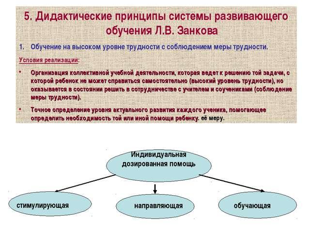 5. Дидактические принципы системы развивающего обучения Л.В. Занкова Обучение...