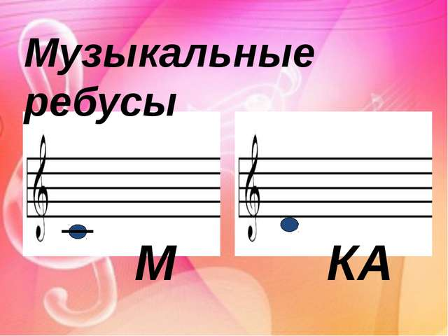 Музыкальные ребусы М КА