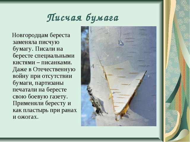Писчая бумага Новгородцам береста заменяла писчую бумагу. Писали на бересте с...
