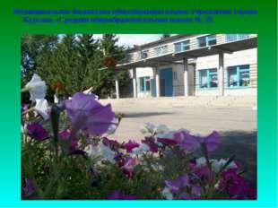 Муниципальное бюджетное общеобразовательное учреждение города Кургана «Средн