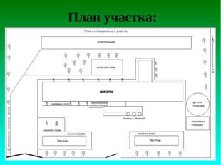 План участка: