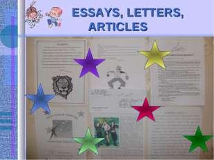 ESSAYS, LETTERS, ARTICLES
