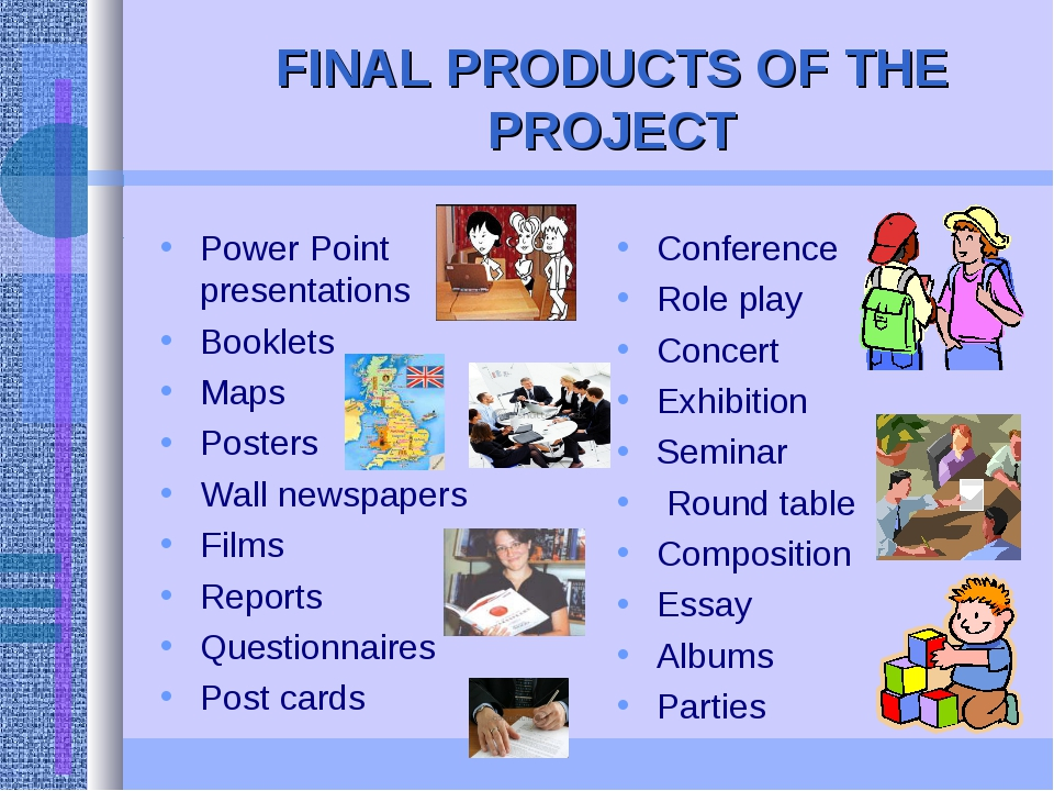 FINAL PRODUCTS OF THE PROJECT Power Point presentations Booklets Maps Posters...