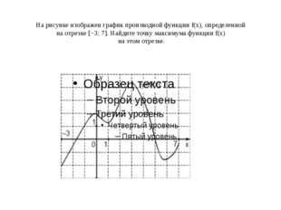Нарисунке изображен график производной функцииf(x), определенной наотрезк